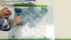 how to stencil on concrete