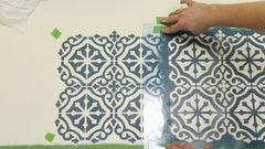 how to reposition a stencil template