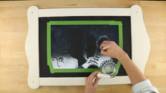 how to stencil with chalk