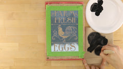 how to stencil with a dry brush