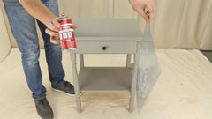 how to paint a table with stencils
