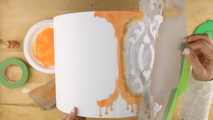 how to stencil on a lampshade