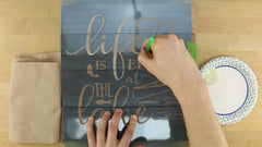 how to paint reclaimed wood