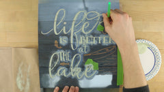 how to stencil a wood sign