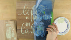 how to stencil on reclaimed wood