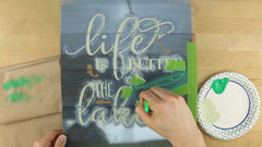 how to stencil in more than one color