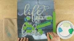 how to stencil with four colors