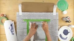 Stencil the laundry bag