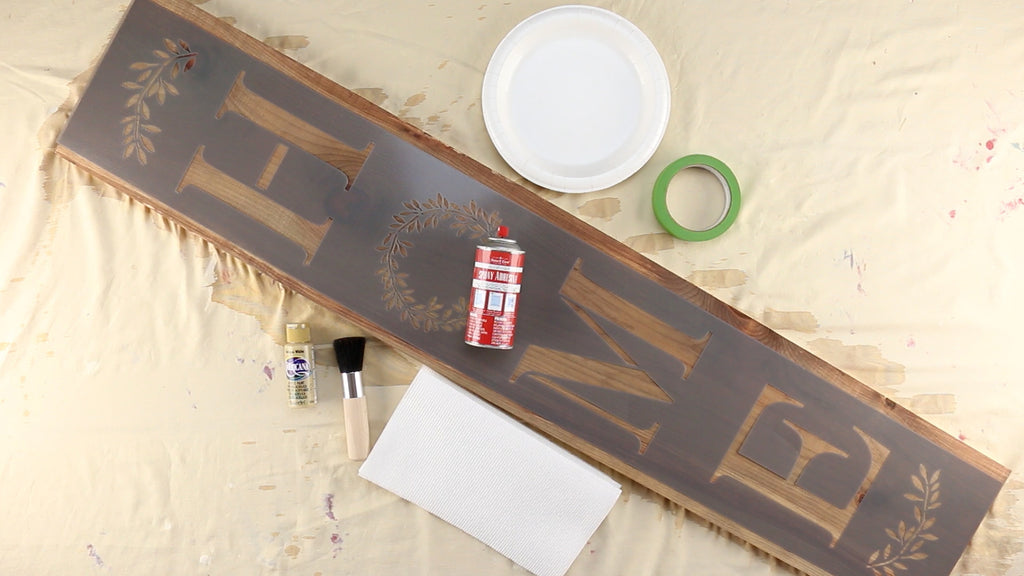 Everything you will need to make your vertical porch sign