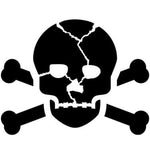 Skull and Crossbones Craft Stencil