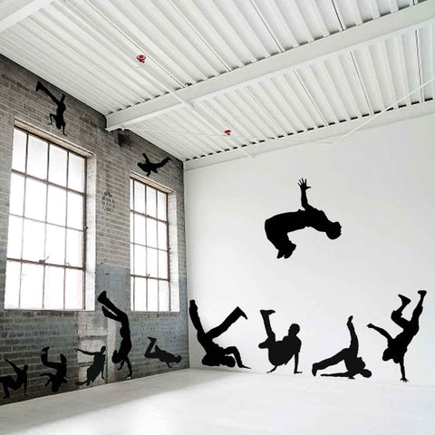 Break Dancer Wall Stencils
