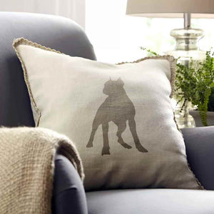 Boston Terrier on Pillow