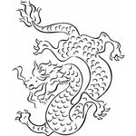 Dragon Wall Stencil