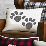 Pillow Stencil Animal Tracks Design Pillow Stencils