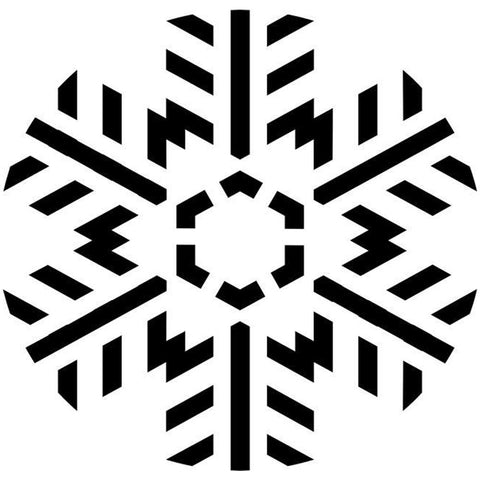 Feathered Snowflake Craft Stencil