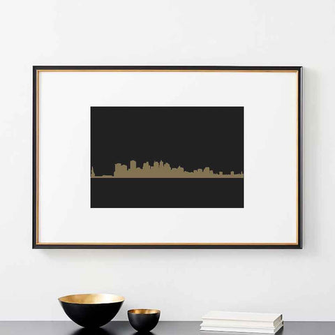 City Skyline Wall Stencils