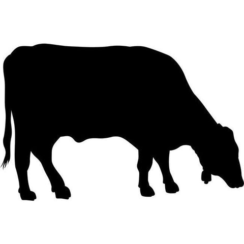 Grazing Cow Stencil