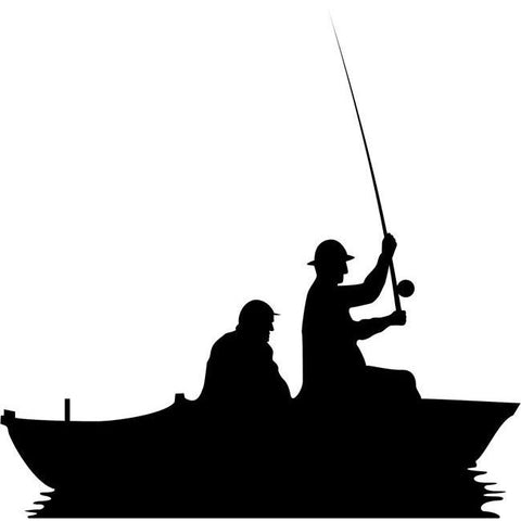 Open Water Fishing Stencil