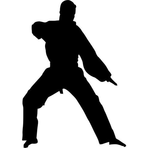 Low Block Karate Stencil