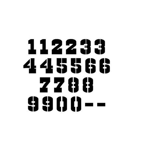 Cowboys Numbers Craft Stencil