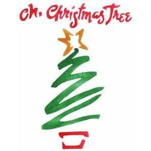 Oh Christmas Tree Stencil