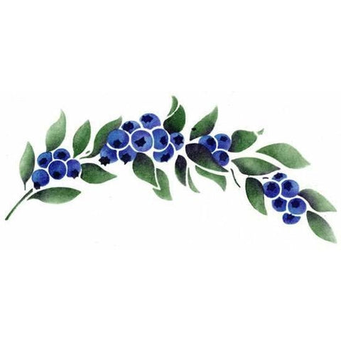 Blueberry Garland Stencil