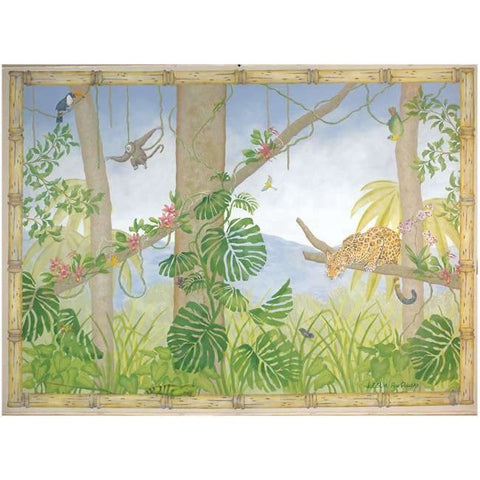 Rainforest Jungle Mural Stencil