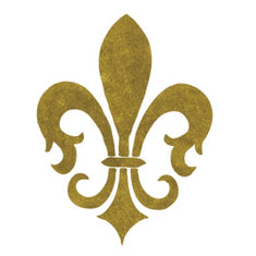 English Fleur de Lis Accent Stencil