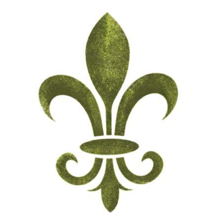 French Fleur de Lis Accent Wall Stencil