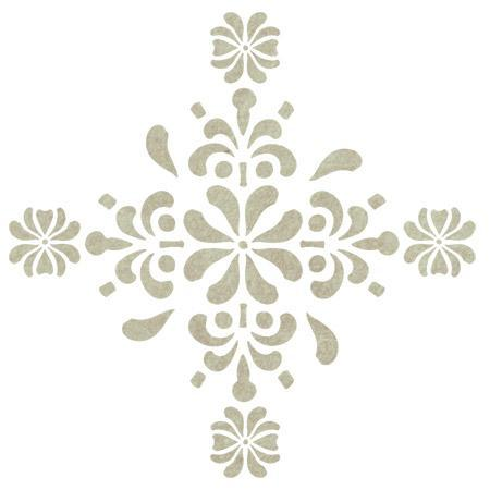 Antique Rosette Accent Stencil