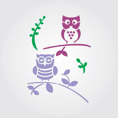 Owls Craft Stencil