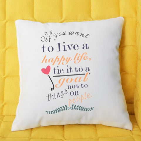 Happy Life Pillow Stencils