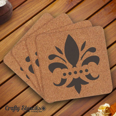 Assorted Vintage Fleur De Lis Craft Stencil