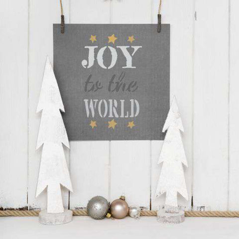 Joy to the World Stencil
