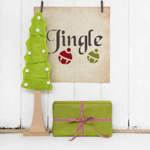 Jingle All the Way Stencil - Oak Lane Studio