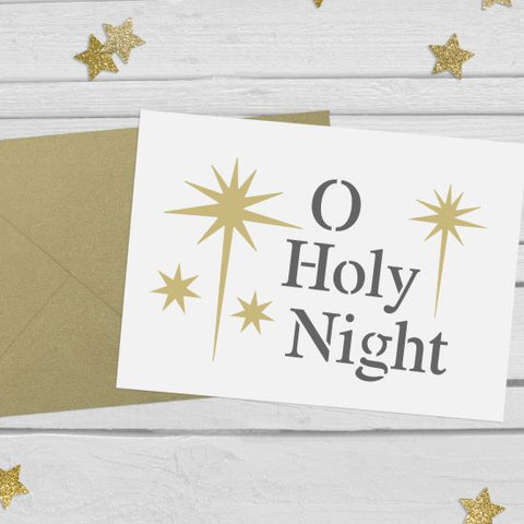 O Holy Night Stencil