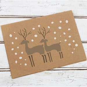 Reindeer Stencil Christmas stencil Holiday stencil used to decorate a welcome mat