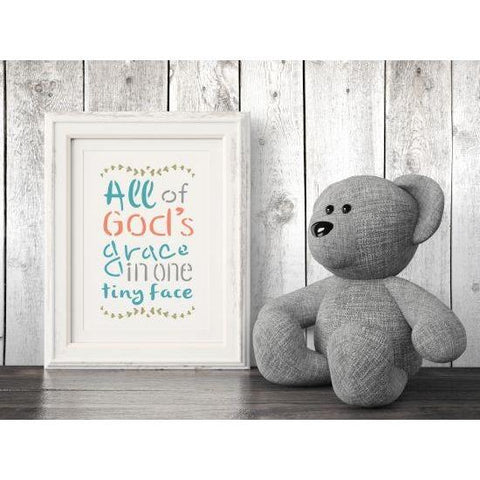 God's Grace Craft Stencil