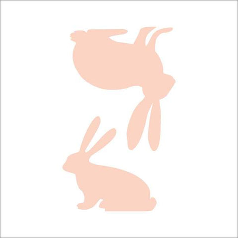 Easter Bunnies Wall Stencil