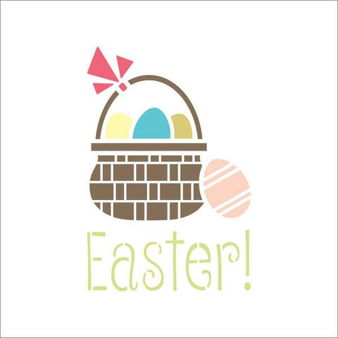Easter Basket Wall Stencil