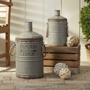 Pumpkin Patch Painted on Tin Jug