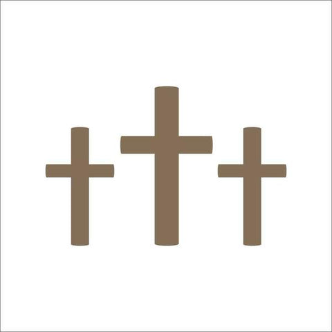 Easter Crosses Wall Stencil