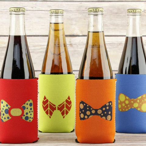 Bow Ties Stenciled on Koozies