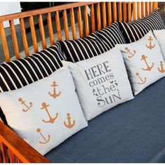 Here Comes the Sun Pillow Stencils