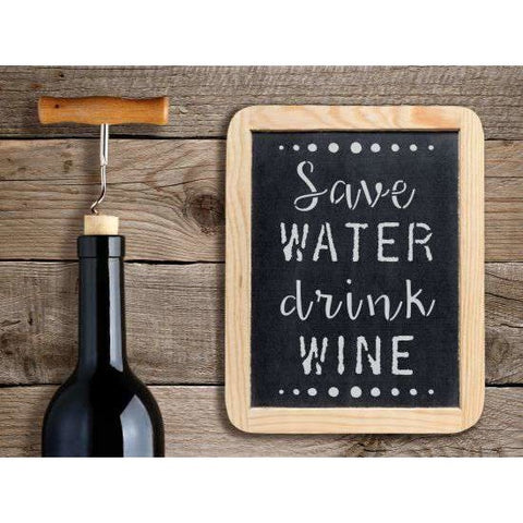 Save Water Drink Wine Stencil