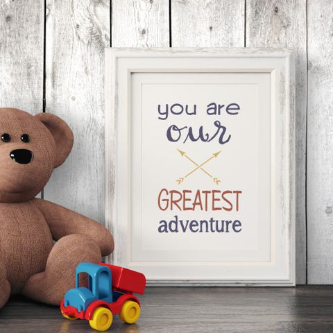 Greatest Adventure Wall Stencil