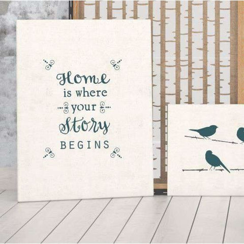 Home Is Where Your Story Begins Wall Stencil