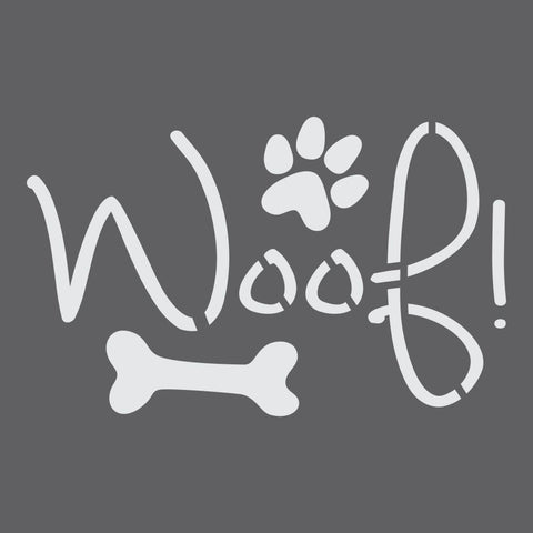 Woof Craft Stencil