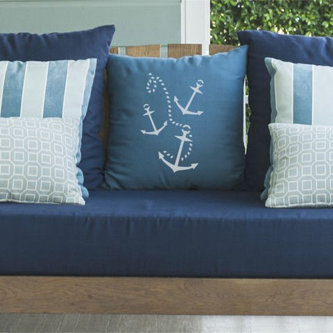 Rope and Anchor Pillow Stencils