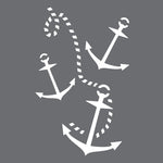 Rope and Anchor Wall Stencil